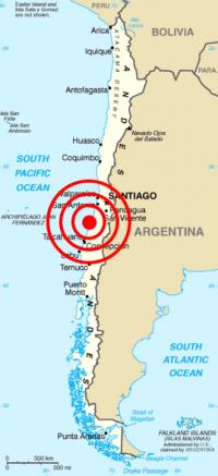 2010년 2월 27일 규모 8.8의 칠레 대지진이 발생했다. - 위키미디어 제공